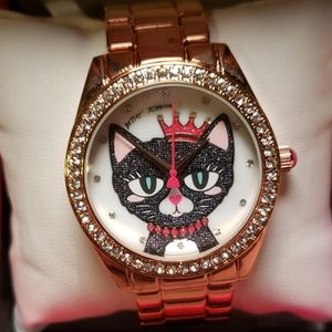 Betsey Johnson Meowing about it rose gold watch